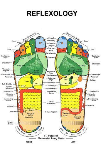 Reflexology Foot Photo Sign 8in x 12in
