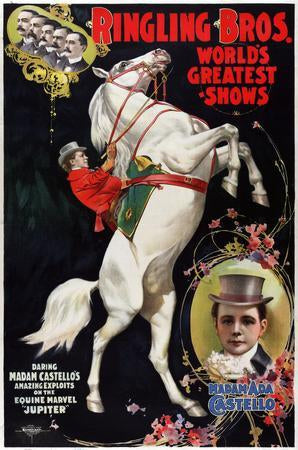 Ringling Circus poster tin sign Wall Art