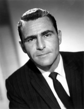 Rod Serling Photo Sign 8in x 12in
