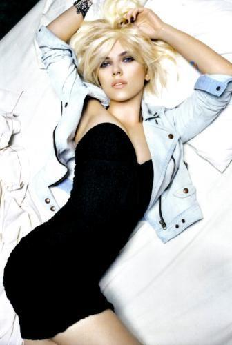 Scarlett Johansson Photo Sign 8in x 12in