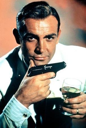 Sean Connery Poster james bond gun #1 24x36 - Fame Collectibles