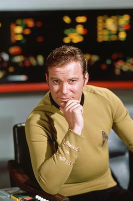 William Shatner Star Trek Capt. Kirk poster tin sign Wall Art