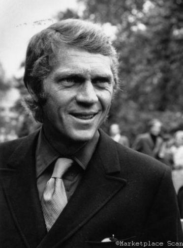 Steve Mcqueen Photo Sign 8in x 12in