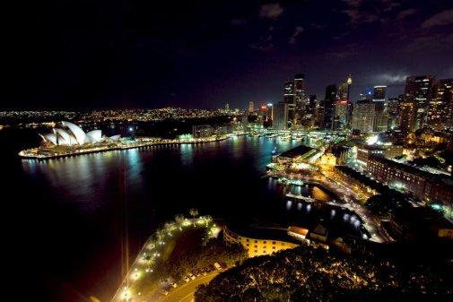 Sydney Skyline Photo Sign 8in x 12in