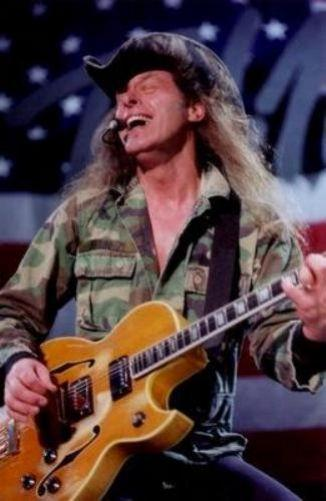 Ted Nugent Photo Sign 8in x 12in