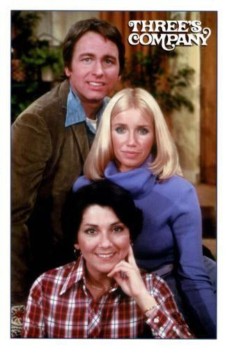 Threes Company Photo Sign 8in x 12in