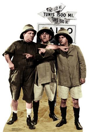 Three Stooges Safari Photo Sign 8in x 12in