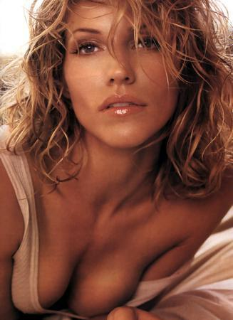 Tricia Helfer Close Up poster tin sign Wall Art