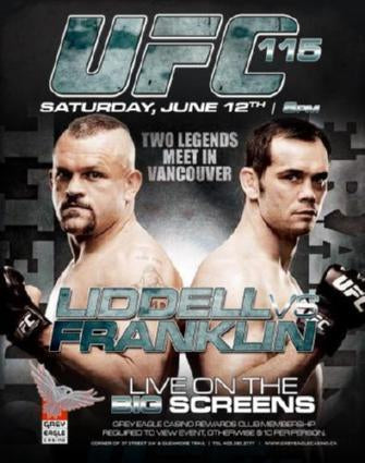 Ufc 115 Liddell Vs Franklin poster tin sign Wall Art