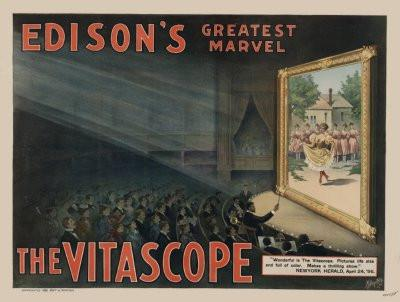 Vitascope poster tin sign Wall Art