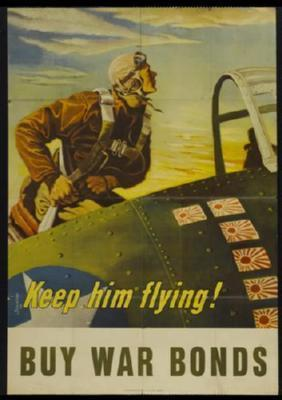 War Bonds poster tin sign Wall Art