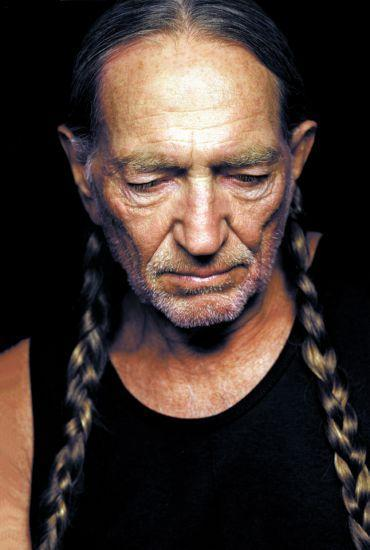 Willie Nelson Photo Sign 8in x 12in