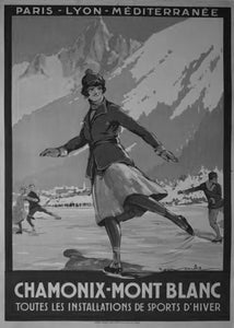 "1St Winter Olympics Poster Black and White Mini Poster 11""x17"""