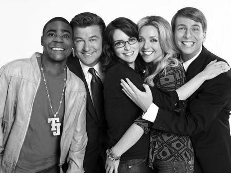 30 Rock Poster Black and White Poster 27