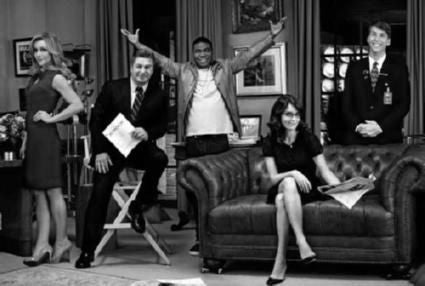 30 Rock Poster Black and White Mini Poster 11