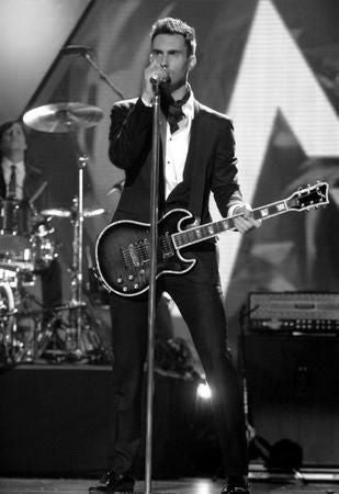 Adam Levine Poster Black and White Mini Poster 11