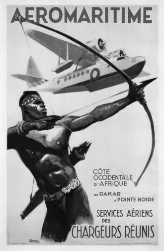 Africa Aeromaritime 1950 Poster Black and White Mini Poster 11