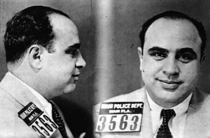 Al Capone Mug Shot Poster Black and White Mini Poster 11