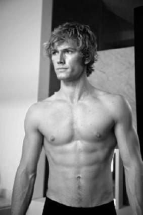 Alex Pettyfer black and white poster