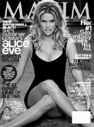 Alice Eve Poster Black and White Poster 16