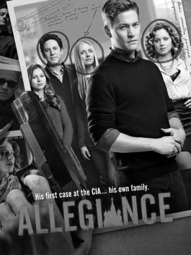 Allegiance Poster Black and White Mini Poster 11