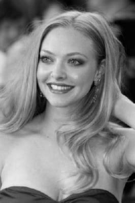 Amanda Seyfried Poster Black and White Poster 16