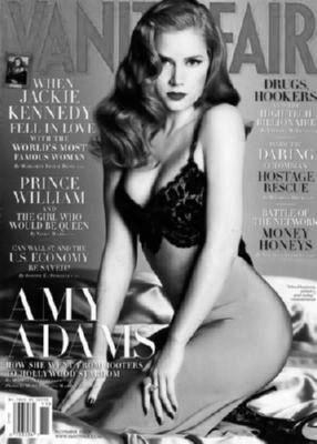 Amy Adams black and white poster