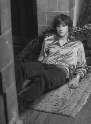Ashton Kutcher black and white poster