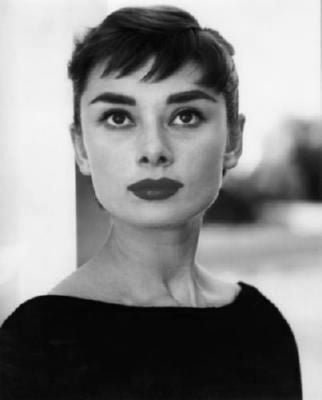 Audrey Hepburn black and white poster