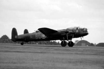 Avro Lancaster Bomber black and white poster