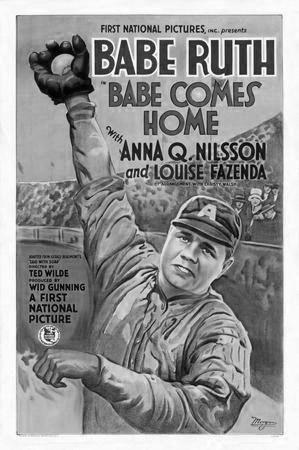 Babe Ruth black and white poster