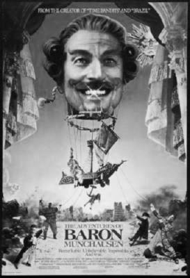 Baron Munchausen Poster Black and White Poster 27