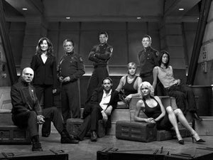"Battlestar Galactica Poster Black and White Poster 27""x40"""