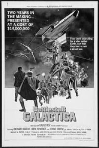 "Battlestar Galactica Poster Black and White Mini Poster 11""x17"""