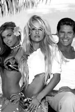 Baywatch Poster Black and White Mini Poster 11