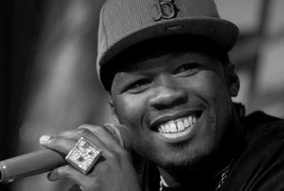 50 Cent Poster Black and White Mini Poster 11