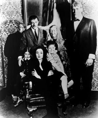 Addams Family Tv Poster Black and White Mini Poster 11