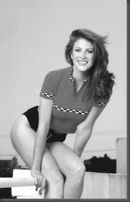 Angie Everhart Poster Black and White Mini Poster 11