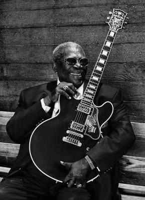 Bb King black and white poster