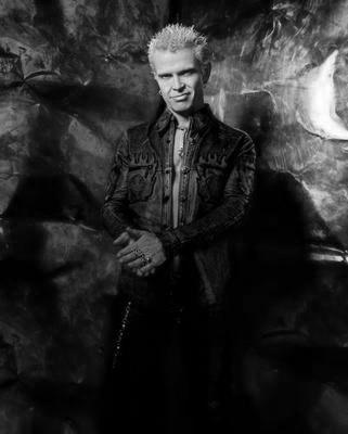 Billy Idol black and white poster