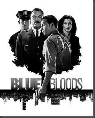 Blue Bloods black and white poster