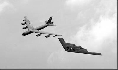 Bombers Stealth Bomber B52 black and white poster