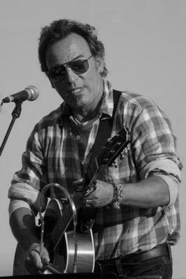Bruce Springsteen black and white poster