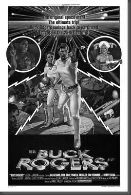 Buck Rogers Poster Black and White Mini Poster 11