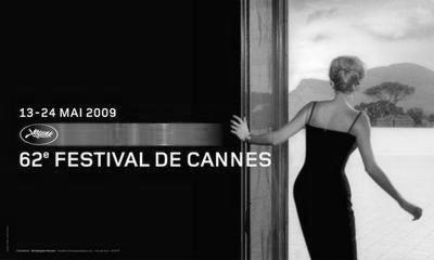 Cannes Festival black and white poster