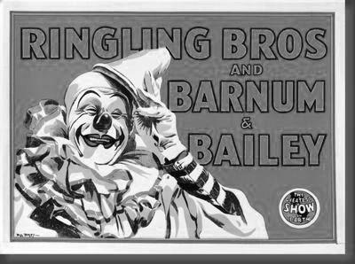 Ringling Bros. Circus black and white poster
