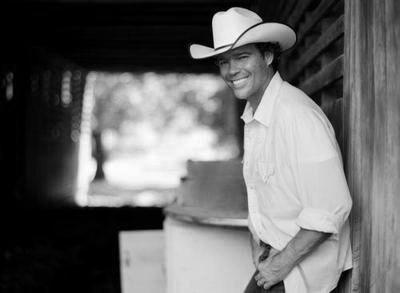 Clay Walker black and white poster