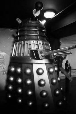 Dalek Poster Black and White Mini Poster 11