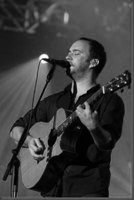 Dave Matthews black and white poster