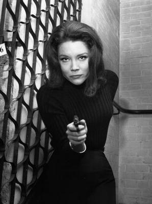 Diana Rigg black and white poster